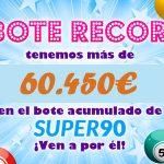 Más de 60.000 euros de bote en YoBingo