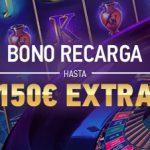 Bono recarga de 150€ extra en el Casino de Sportium