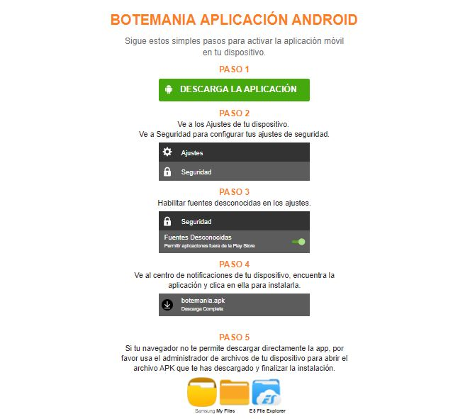 app botemania android