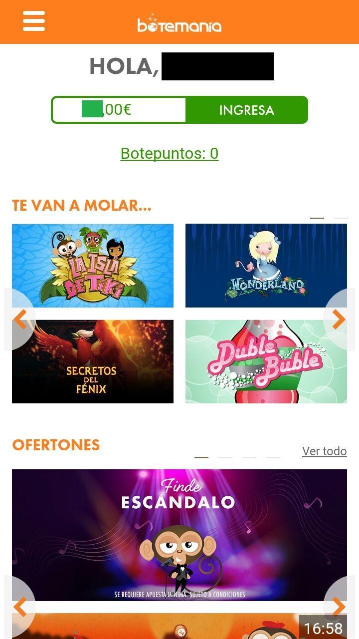 app botemania inicio