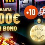 Bono de depósito con giros gratis y fichas doradas en Sportium