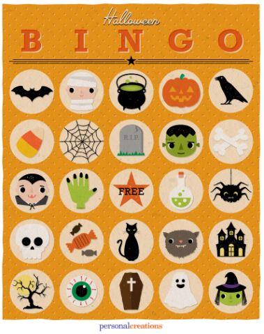 bingo tombola halloween