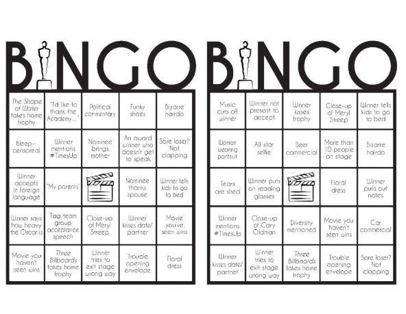 bingo oscar premios