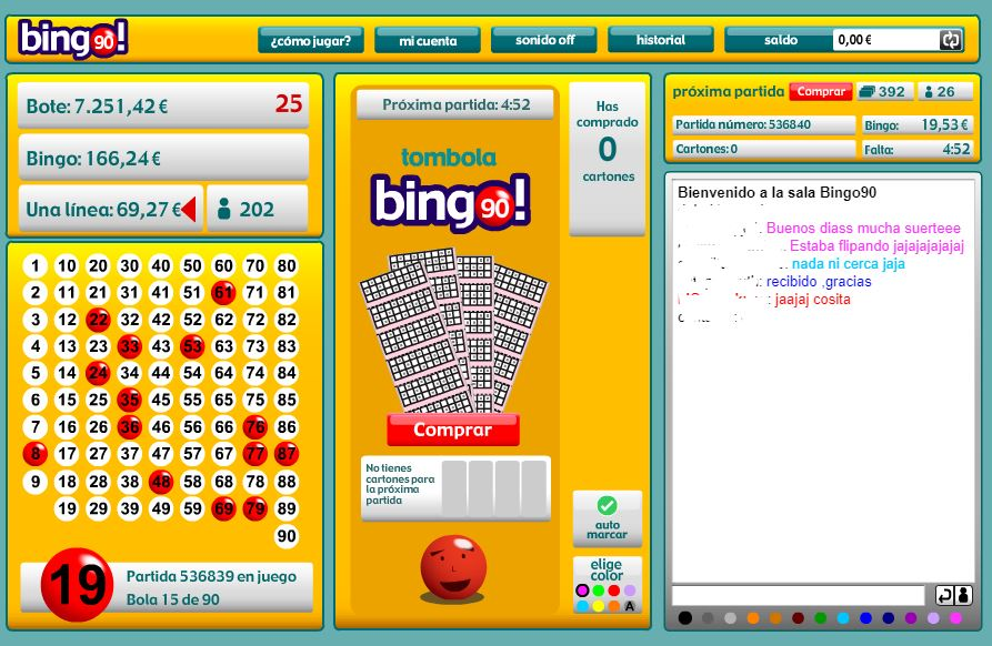 bingo 90 tombola