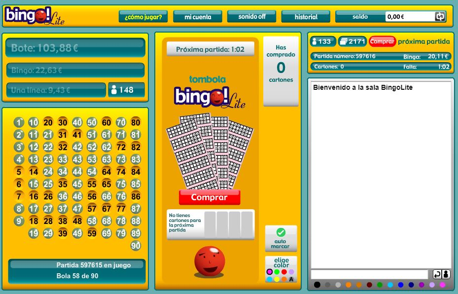 bingo lite tombola
