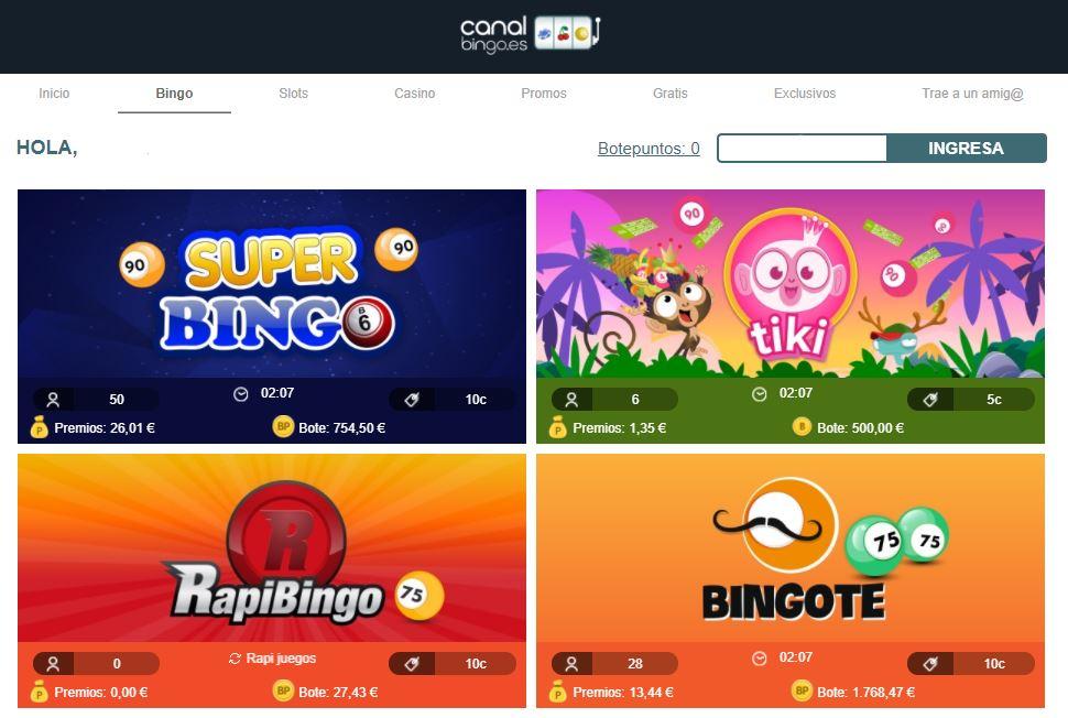 canal bingo nueva web bingo